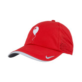 Nike Dri Fit Red Perforated Hat-Childrens Health Red Balloon