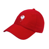 Red Twill Unstructured Low Profile Hat-Childrens Health Red Balloon