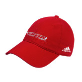 Adidas Red Slouch Unstructured Low Profile Hat-Andrews Institute Logo