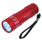 Industrial Triple LED Red Flashlight-Andrews Institute Logo Engrave