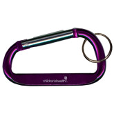 Purple Carabiner with Split Ring-Childrens Health Logo Engrave