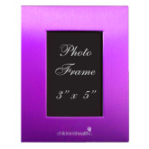 Purple Brushed Aluminum 3 x 5 Photo Frame-Childrens Health Logo Engrave
