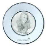 Silver Two Tone Big Round Photo Frame-Childrens Health Logo Engrave