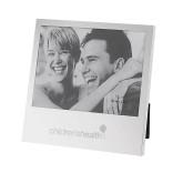 Silver Two Tone 5 x 7 Horizontal Photo Frame-Childrens Health Logo Engrave