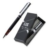Cutter & Buck Black/Tortoise Shell Draper Ballpoint Pen-Childrens Health Logo Engrave
