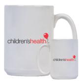 Full Color White Mug 15oz-Childrens Health Logo