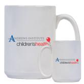 Full Color White Mug 15oz-Andrews Institute Logo