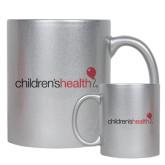 Full Color Silver Metallic Mug 11oz-Childrens Health Logo