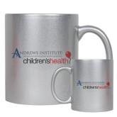 Full Color Silver Metallic Mug 11oz-Andrews Institute Logo