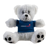 Plush Big Paw 8 1/2 inch White Bear w/Navy Shirt-Childrens Health Logo