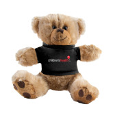 Plush Big Paw 8 1/2 inch Brown Bear w/Black Shirt-Childrens Health Logo