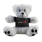 Plush Big Paw 8 1/2 inch White Bear w/Black Shirt-Childrens Health Logo