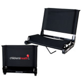 Stadium Chair Black-Childrens Health Logo