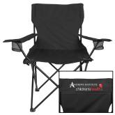 Deluxe Black Captains Chair-Andrews Institute Logo
