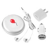 3 in 1 White Audio Travel Kit-Childrens Health Red Balloon