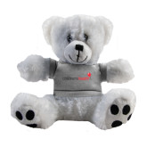 Plush Big Paw 8 1/2 inch White Bear w/Grey Shirt-Childrens Health Logo