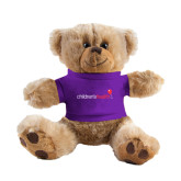 Plush Big Paw 8 1/2 inch Brown Bear w/Purple Shirt-Childrens Health Logo