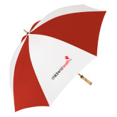 62 Inch Red/White Vented Umbrella-Childrens Health Logo