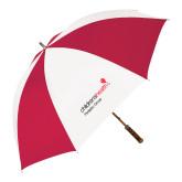 62 Inch Red/White Vented Umbrella-Pediatric Group