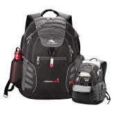 High Sierra Big Wig Black Compu Backpack-Childrens Health Logo