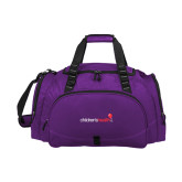 Challenger Team Purple Sport Bag-Childrens Health Logo