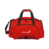 Challenger Team Red Sport Bag-Childrens Health Logo