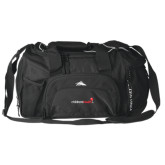 High Sierra Black Switch Blade Duffel-Childrens Health Logo