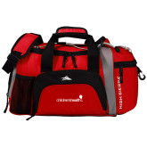 High Sierra Red/Black Switch Blade Duffel-Childrens Health Logo