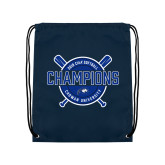 Navy Drawstring Backpack-2018 Softball Champions