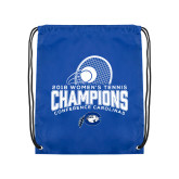 Royal Drawstring Backpack-2018 Womens Tennis Champions