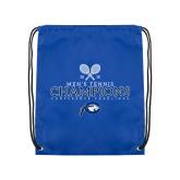 Royal Drawstring Backpack-2018 Mens Tennis Champions