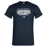 Navy T Shirt-2018 Softball Champions