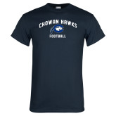 Navy T Shirt-Chowan Football