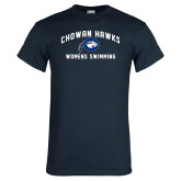 Navy T Shirt-Chowan Womens Swimming