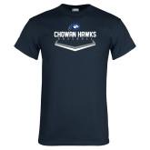 Navy T Shirt-Chowan Hawks Baseball