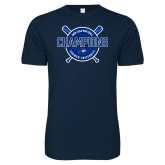 Next Level SoftStyle Navy T Shirt-2018 Softball Champions