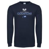Navy Long Sleeve T Shirt-2018 Mens Tennis Champions