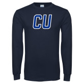 Navy Long Sleeve T Shirt-CU Mark