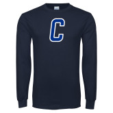 Navy Long Sleeve T Shirt-Chowan C