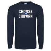 Navy Long Sleeve T Shirt-Choose Chowan