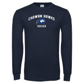 Navy Long Sleeve T Shirt-Chowan Soccer
