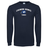 Navy Long Sleeve T Shirt-Chowan Tennis