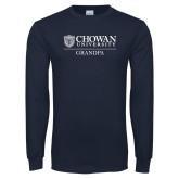 Navy Long Sleeve T Shirt-Chowan Grandpa