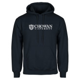 Navy Fleece Hoodie-Horizontal Primary Mark