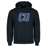 Navy Fleece Hoodie-CU Mark