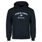 Navy Fleece Hoodie-Chowan Basketball