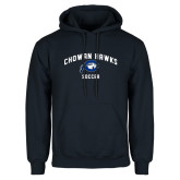 Navy Fleece Hoodie-Chowan Soccer