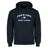 Navy Fleece Hoodie-Chowan Womens Swimming