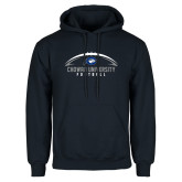 Navy Fleece Hoodie-Chowan University Football