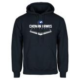 Navy Fleece Hoodie-Chowan Hawks Baseball